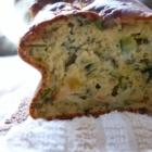 Cake courgette, fromage de chèvre pélardon, menthe
