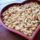 Crumble rhubarbe abricot 2