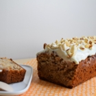 banana bread beurre cacahuète glaçage creamcheese noix
