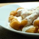 Gnocchis de patate douce, sauce au parmesan