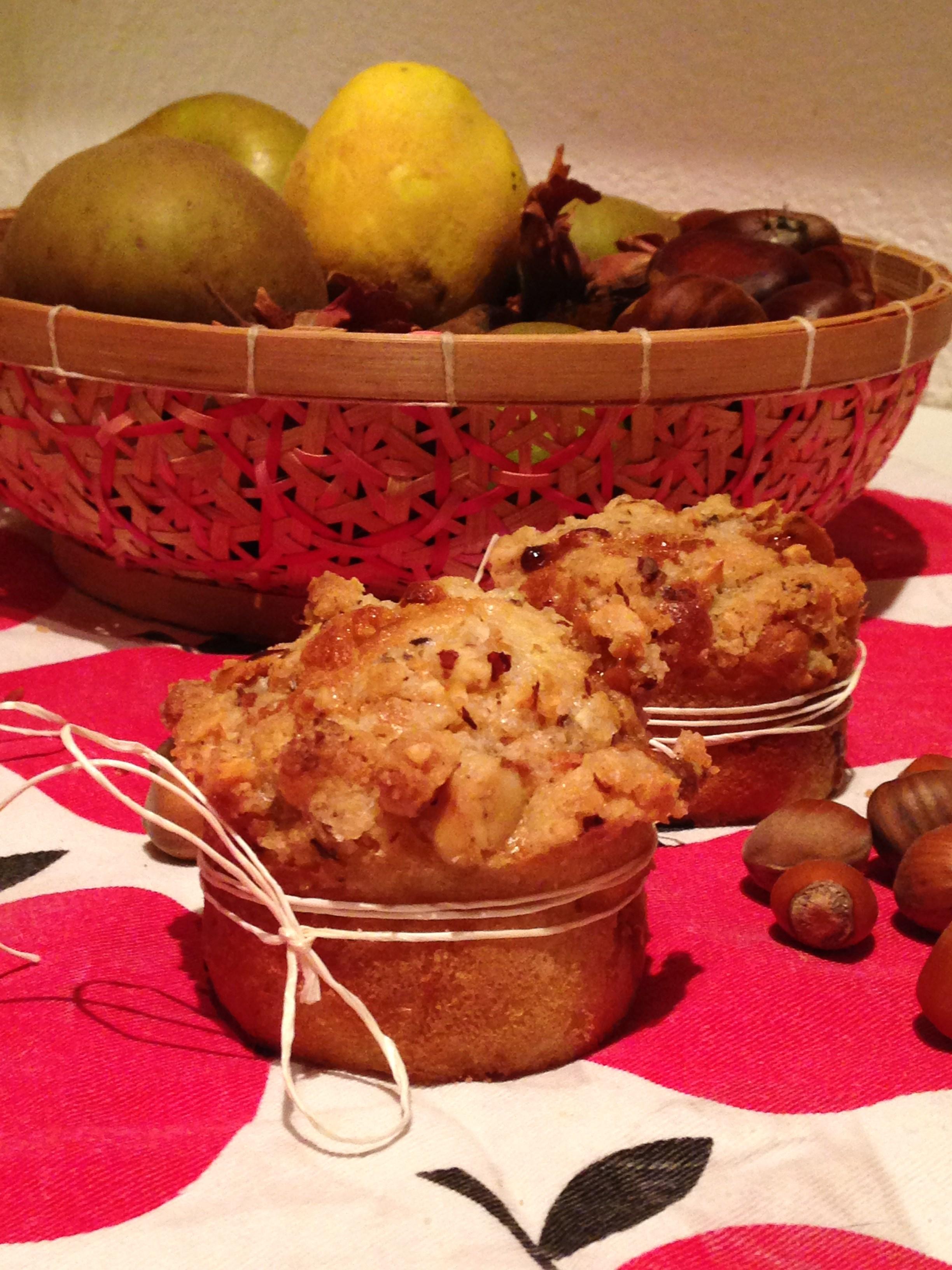 Muffins d'automne façon streusel pomme noisette chocolat dulcey