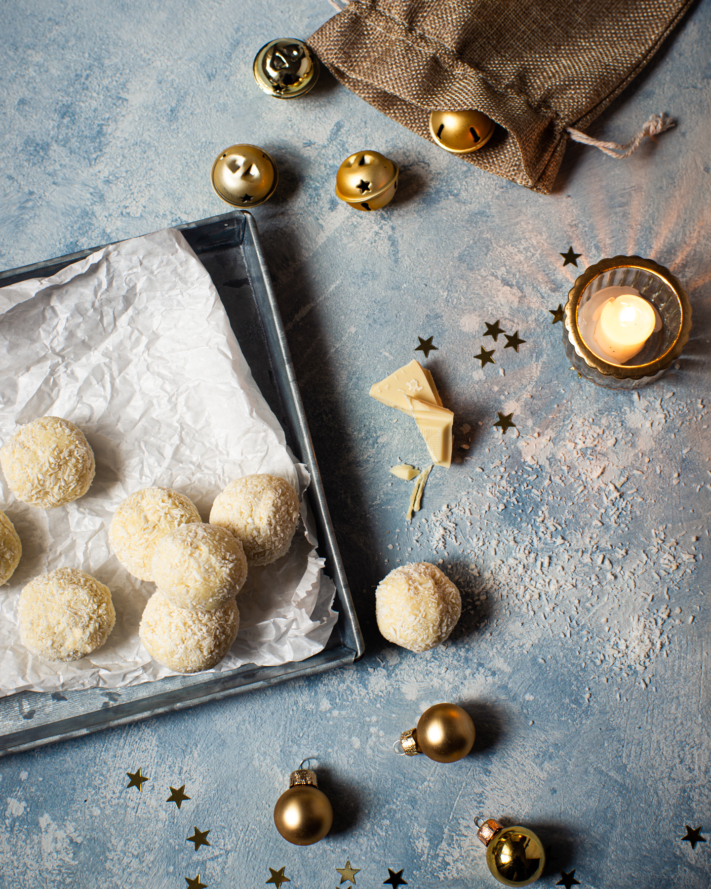 White chocolate & coconut truffles