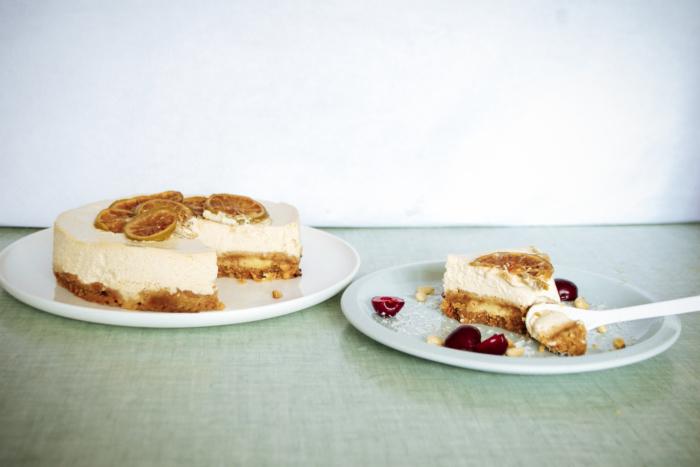 Cheesecake noix de coco & citron vert