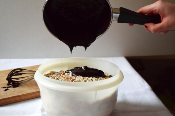 Sauce cacao cru huile coco