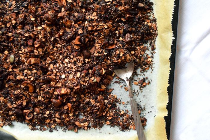 granola amarante & chocolat cacao cru pauvre en sucre