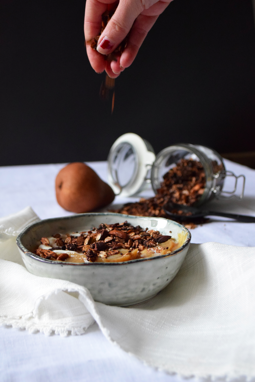 Granola amarante & chocolat