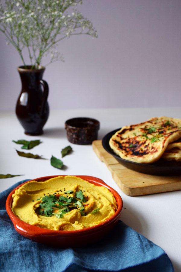 naans red lentils hummus coconut curry
