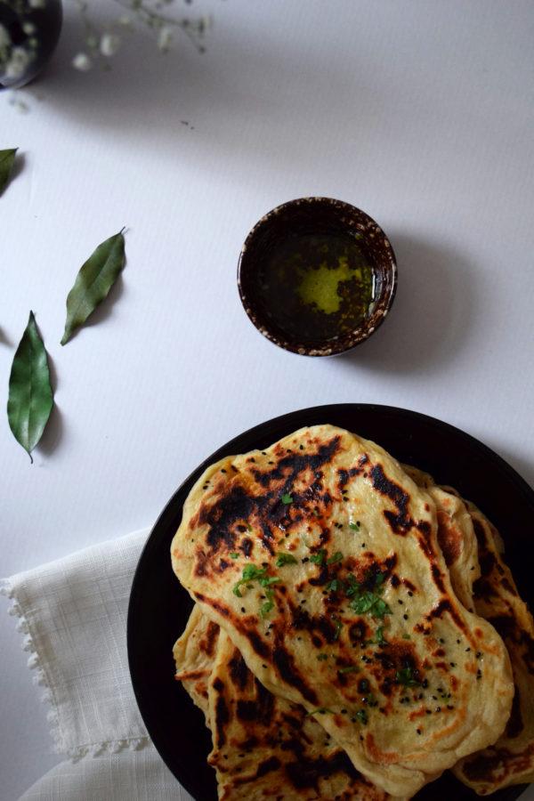 naans indiens nigelle coriandre ghee