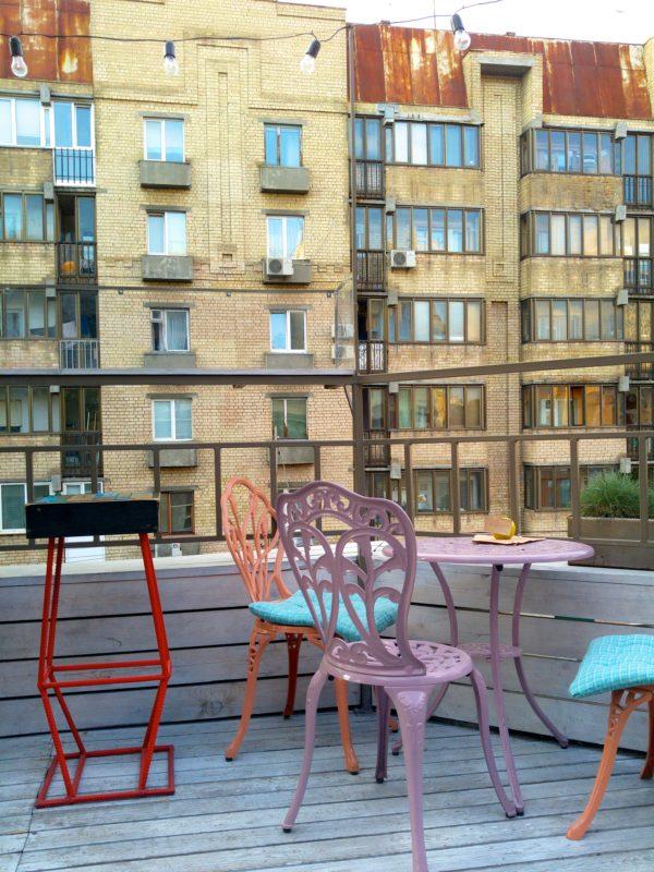 Barbara bar rooftop Kiev Ukraine