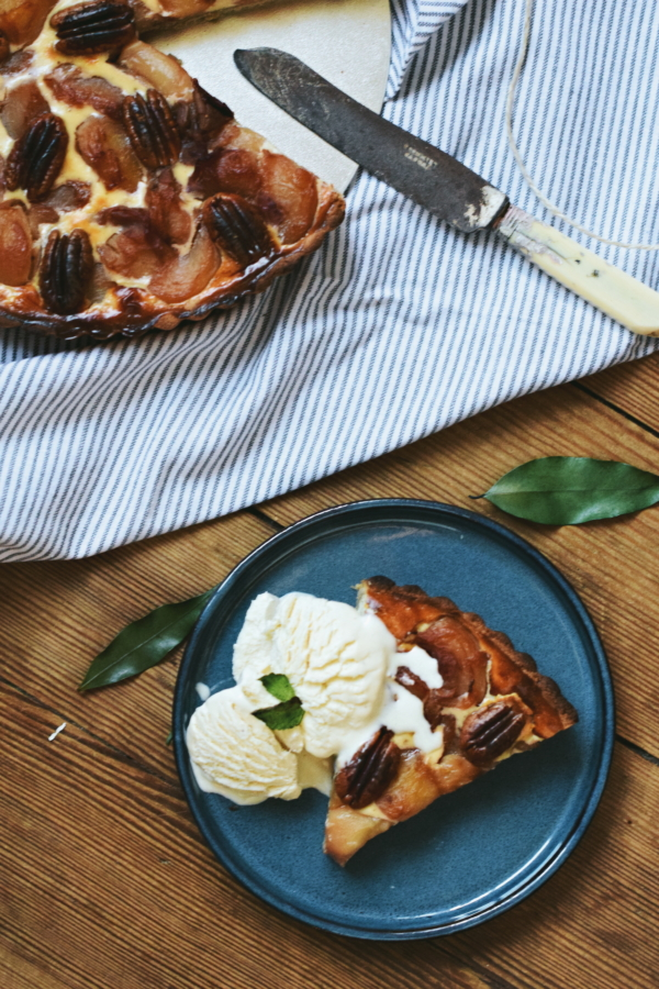 Peach orange blossom pecan nut pie buckwheat