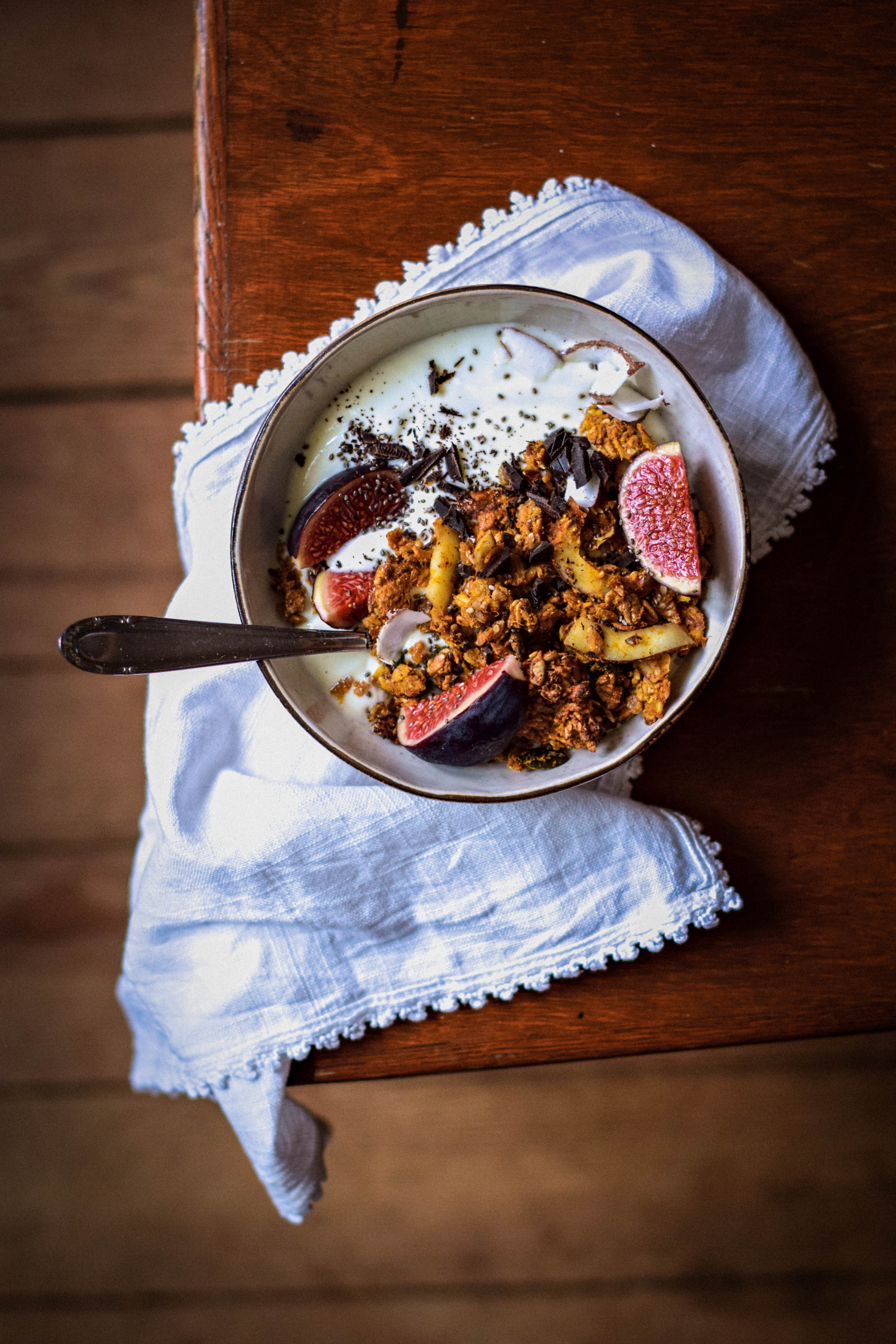 Fall granola with sweet potato & spices