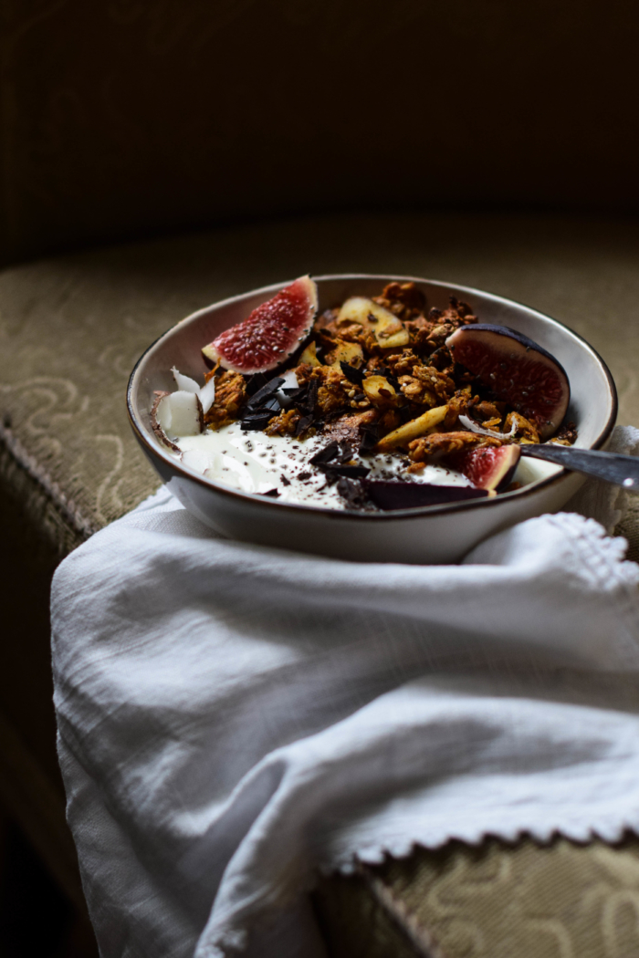 Fall granola with sweet potatoes & spices