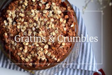 Sweet recipes - Crumbles & Gratins