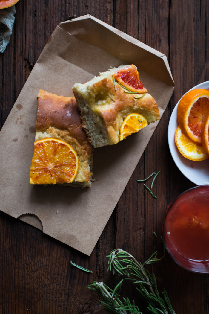 Blood Orange & Rosemary Sweet Focaccia