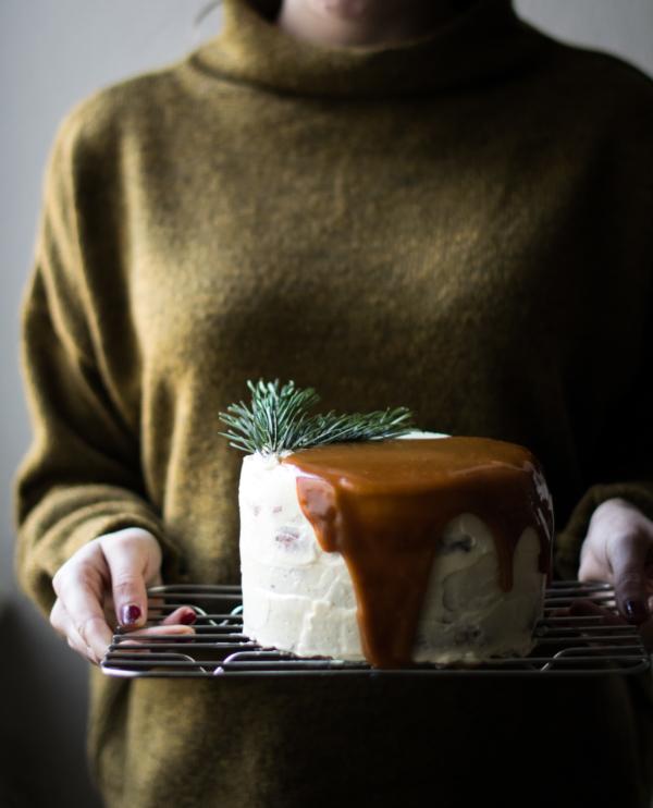 Sweet Potato, Gingerbread & Stracciatella Layer Cake