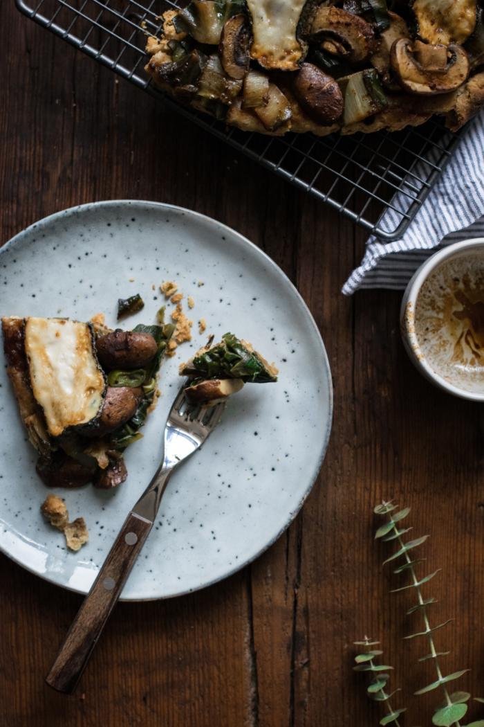 Tarte Tatin aux Blettes, Saint-Maure & Caramel au Miso