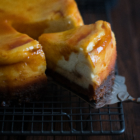 Apple, Caramel & Goat Cheese Cheesecake