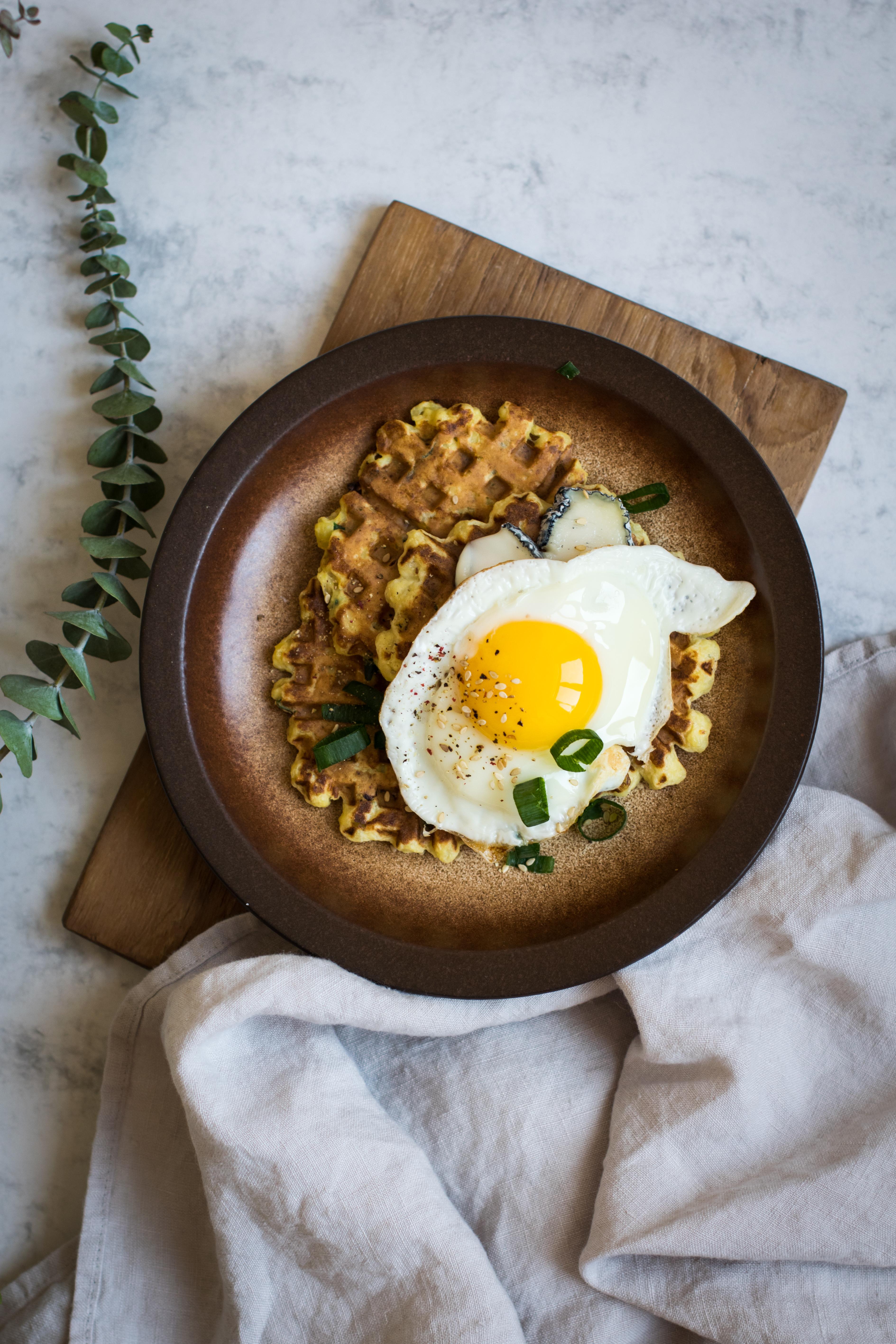 Potato & Scallion Breakfast Waffles