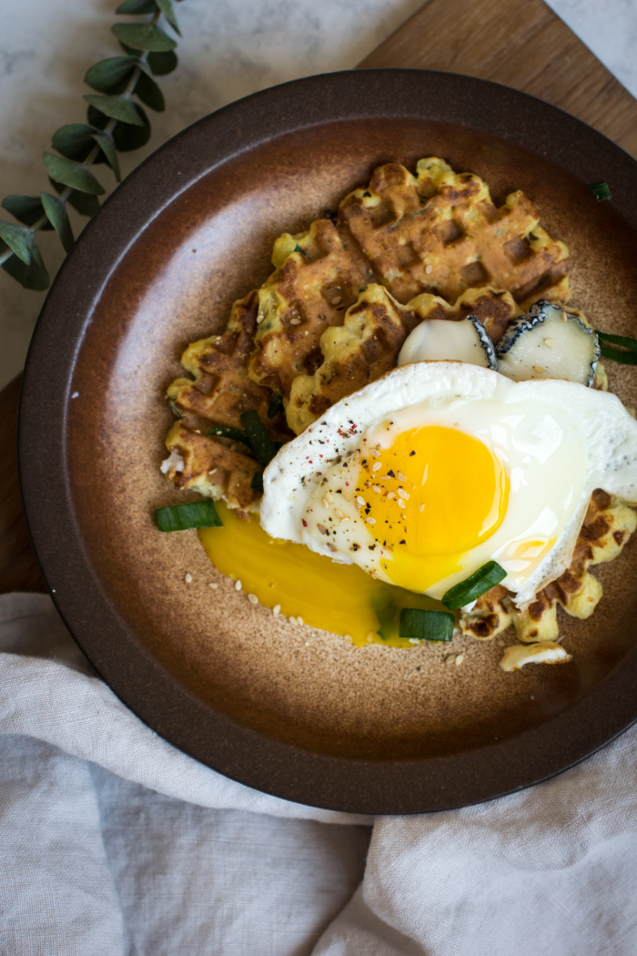 Potato & Scallion Breakfast Waffles