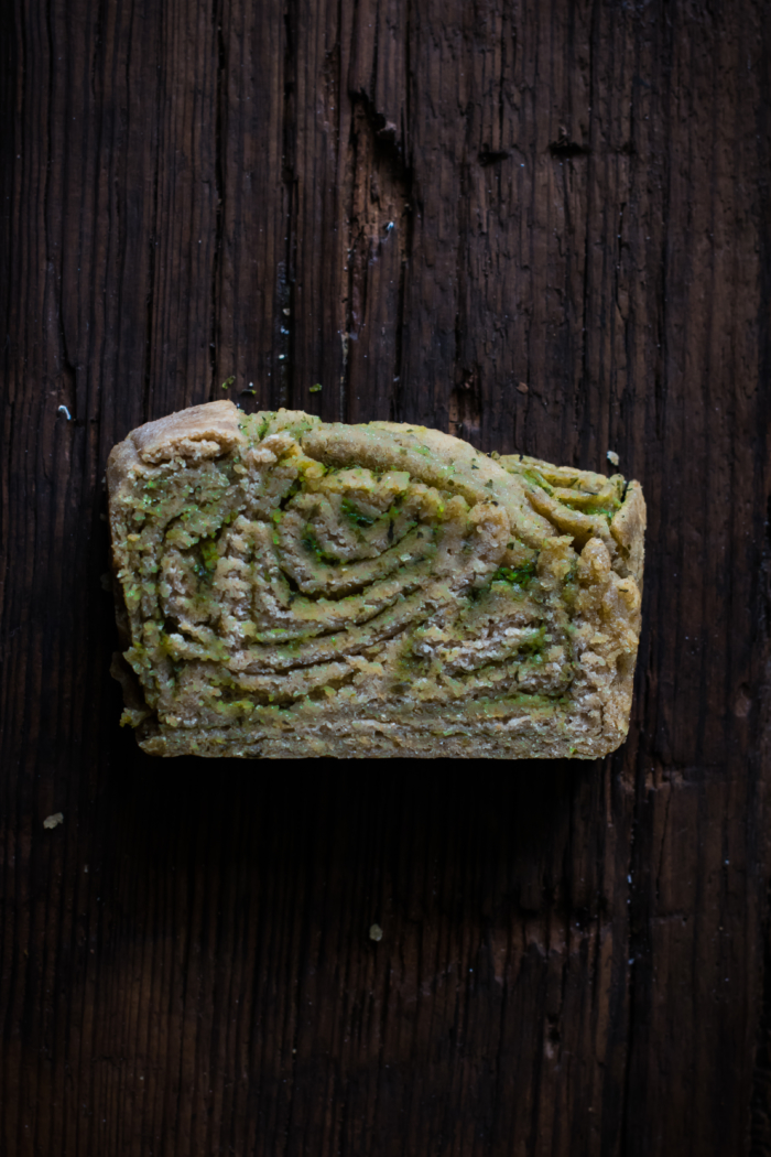 Goat Cheese & Ramp Pesto Babka Bread