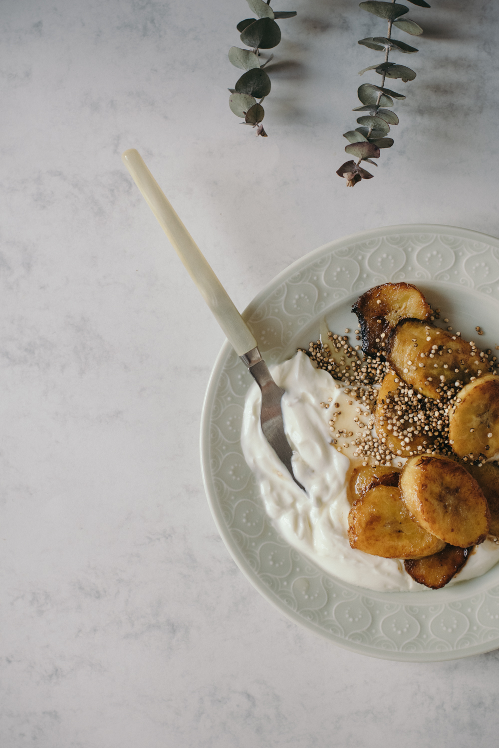 Coconut Caramelised Plantain Banana & Roasted Quinoa