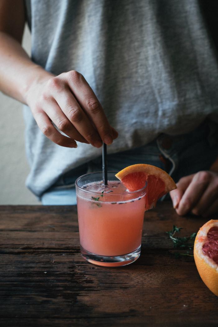 Gin Fizz Lavande Pamplemousse