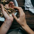 Dumplings aux Champignons, Figues, Gorgonzola & Noix