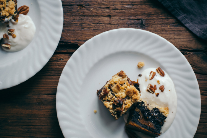 Pecan Nut, Dark Chocolate & Pumpkin Crumble
