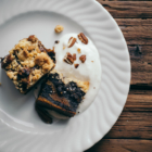 Crumble au Potimarron, Chocolat Noir & Noix de Pécan