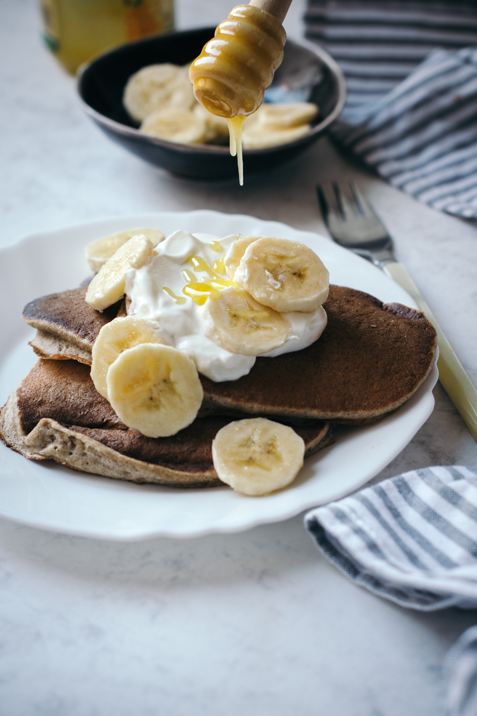 Healthy Banana & Buckwheat Pancakes For Runners