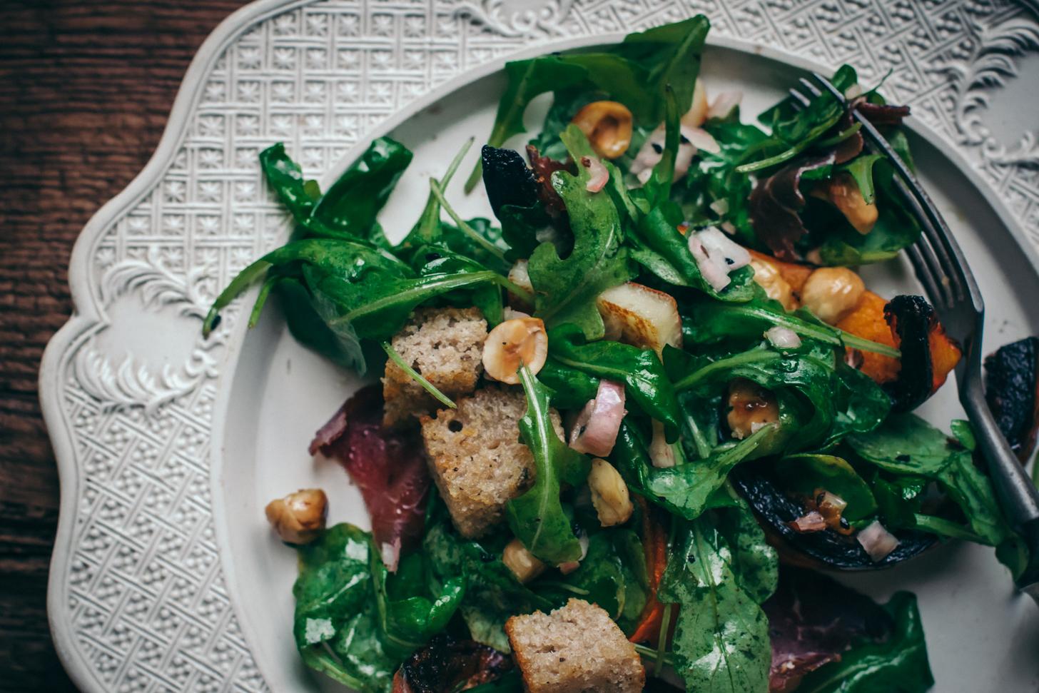 Salade Panzanella d'Automne au Potimarron