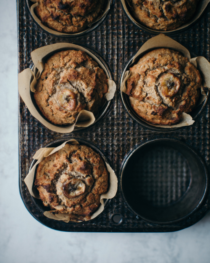 Muffins de Sarrasin, Banane & Gingembre