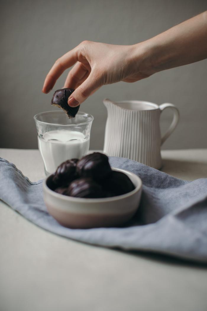 Bouchées Chocolat Menthe & Beurre de Cajou