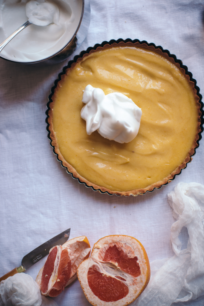 Thyme Grapefruit Meringue Pie