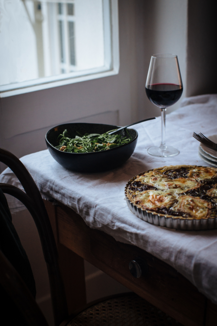 Tarte aux Pommes de Terre, Oignons Confits & Taleggio