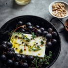 Baked Feta Cheese with Grapes & Honey