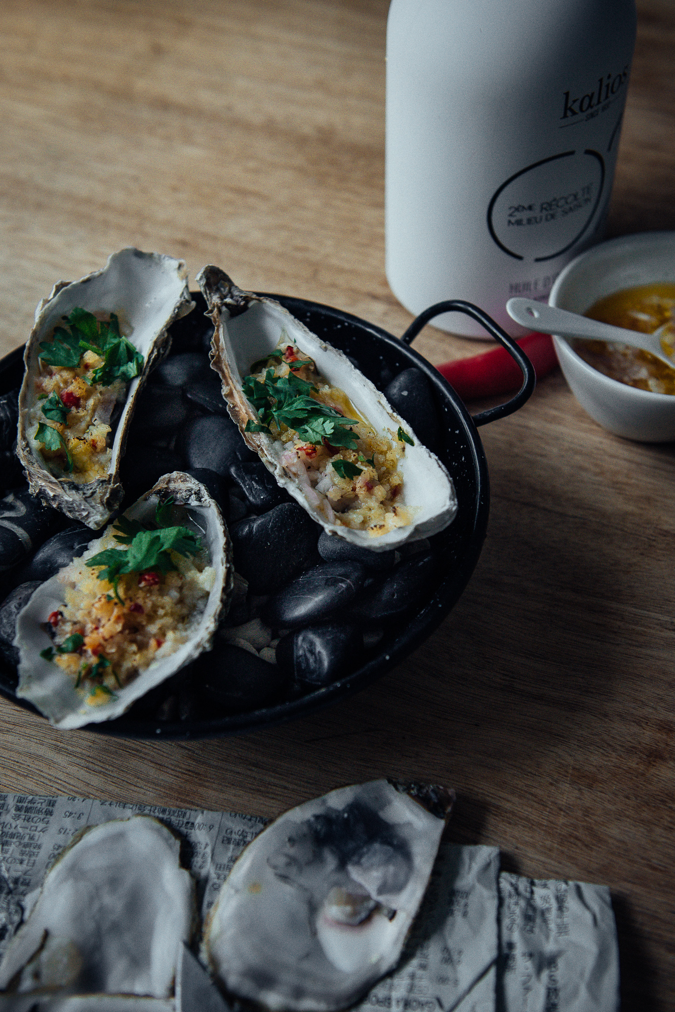 Oysters au Gratin with Parmesan